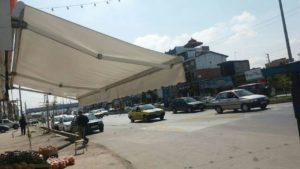سایبان برقی بازاری